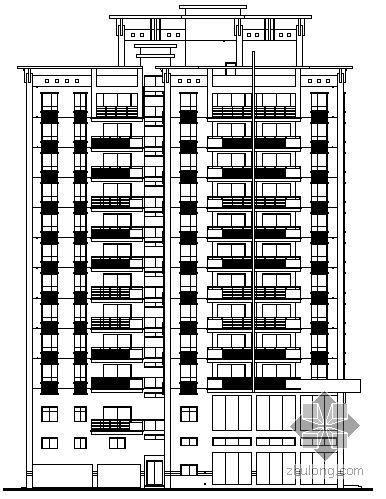 [深圳市]某十六层中心商住楼建筑施工图(带效果图)