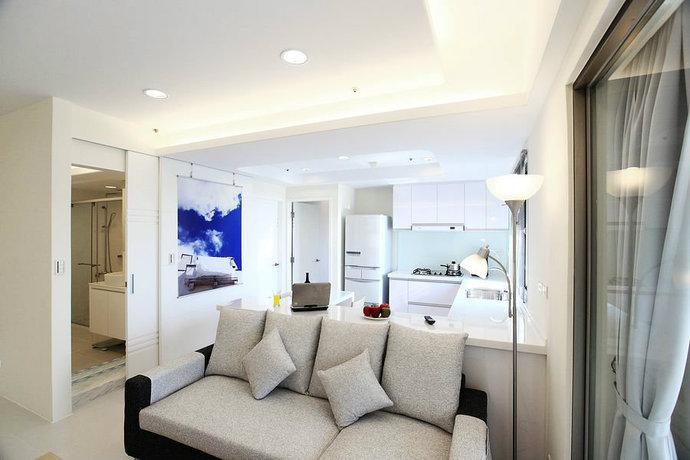 95平简约二居客厅背景墙电视墙设计效果图_6
