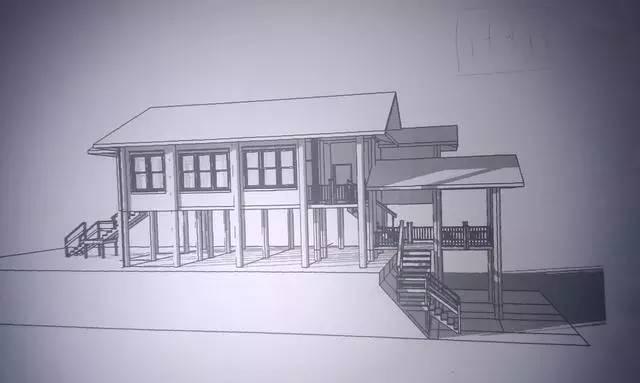 泰国自建房屋施工全程,木结构与混凝土结构的结合!