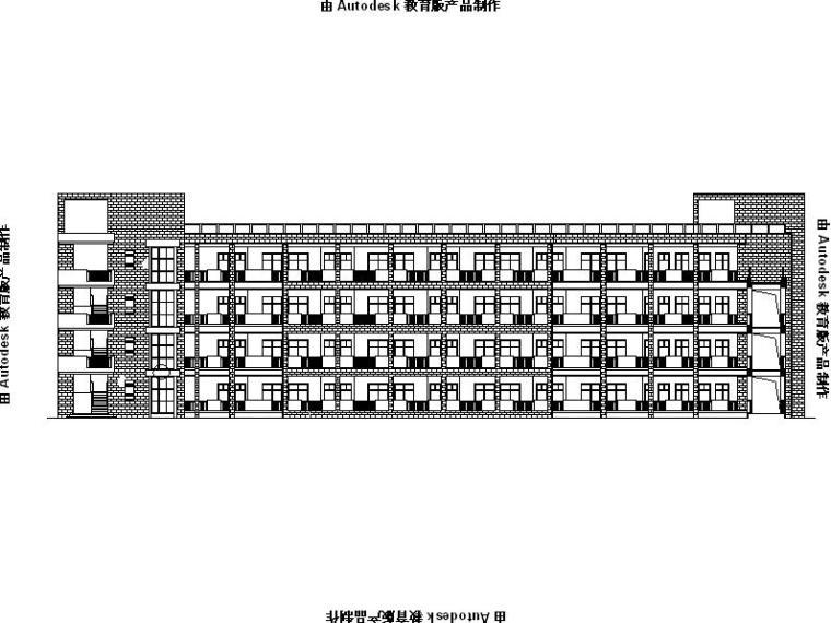 [浙江]面砖外墙市级连廊式中学建筑施工图