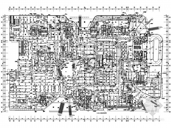 [成都]大型综合性购物中心空调通风设计施工图纸(大院设计 知名项目 23万平)