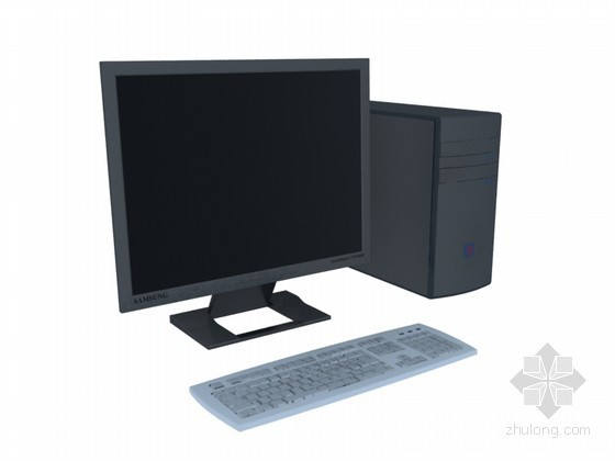 组合电脑3D模型下载