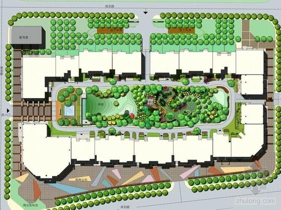 北京板式住宅楼景观设计方案