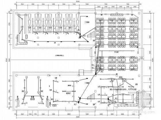 [广西]大学建筑裙楼电气施工图纸(含食堂、礼堂、宿舍)