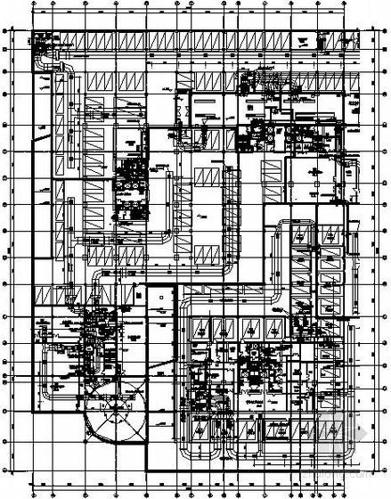 [内蒙古]商业综合楼全套暖通空调施工图137张
