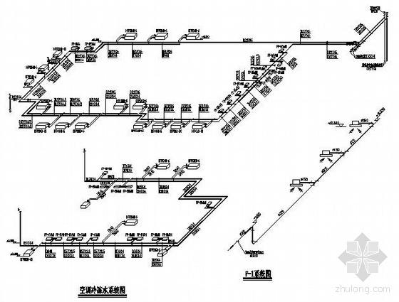 某办公楼直燃中央空调设计图纸