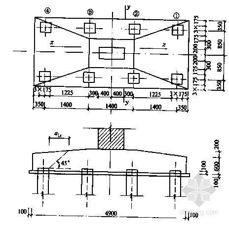 某建筑物桩基础及承台结构设计与计算实例