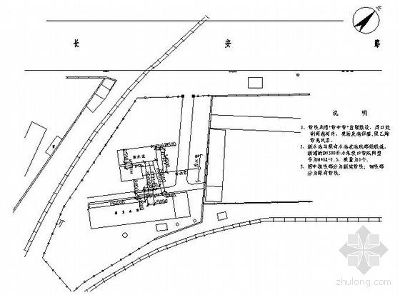 某供热管网工程第三水站室外水池管线竣工图