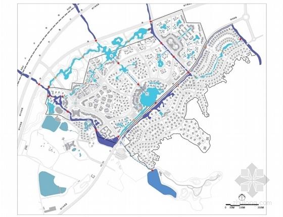 [江苏]国际级综合性旅游度假区景观规划方案-水体控制规划