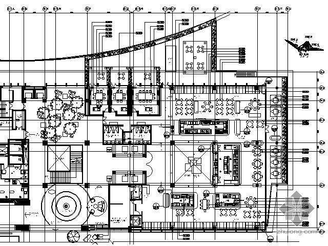 [广东]五星酒店二层茶室施工图