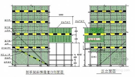 佛山某学校宿舍楼工程外脚手架施工方案(计算书 cad图)