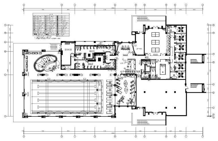 [西安]鸿基-紫韵会所内部装修施工图设计(附效果图)