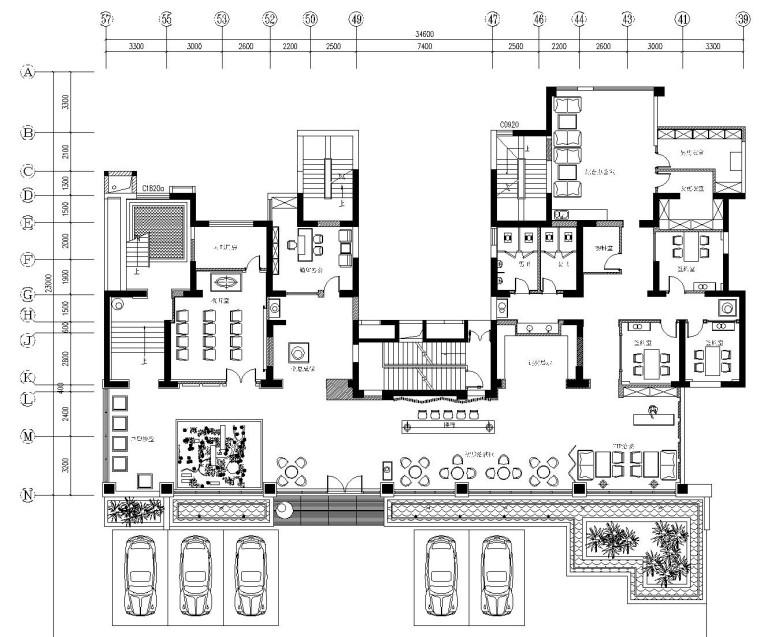 [杭州]环保乌托邦-翡翠城售楼处全套施工图及效果图
