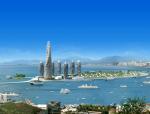 海边建筑3D模型下载