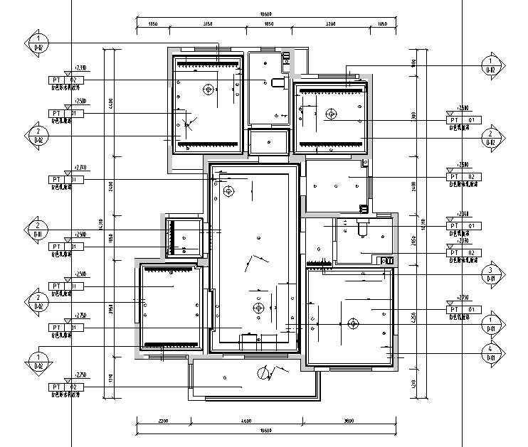 【山东】法式浪漫样板间设计施工图(附效果图)_5