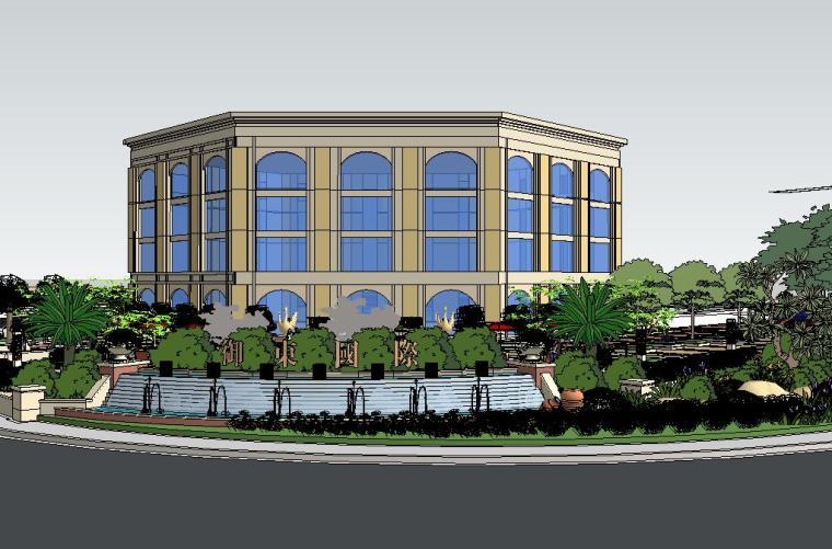 御东国际售楼处景观SU模型设计