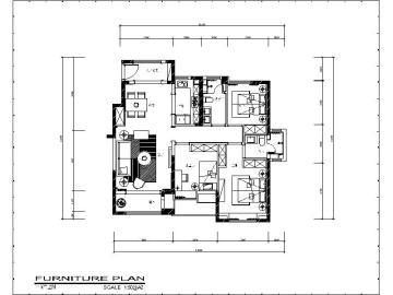 [天津]美式田园样板房设计施工图(含实景图)