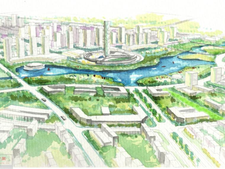 天津南河镇区总体城市规划景观设计(滨水,休闲景观)
