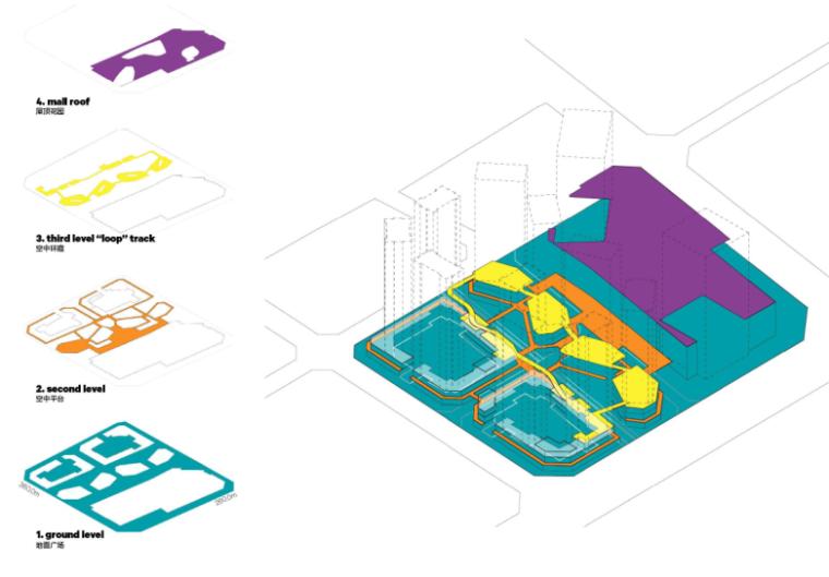[四川]龙湖紫宸商业项目景观设计方案 B-3 平面分解