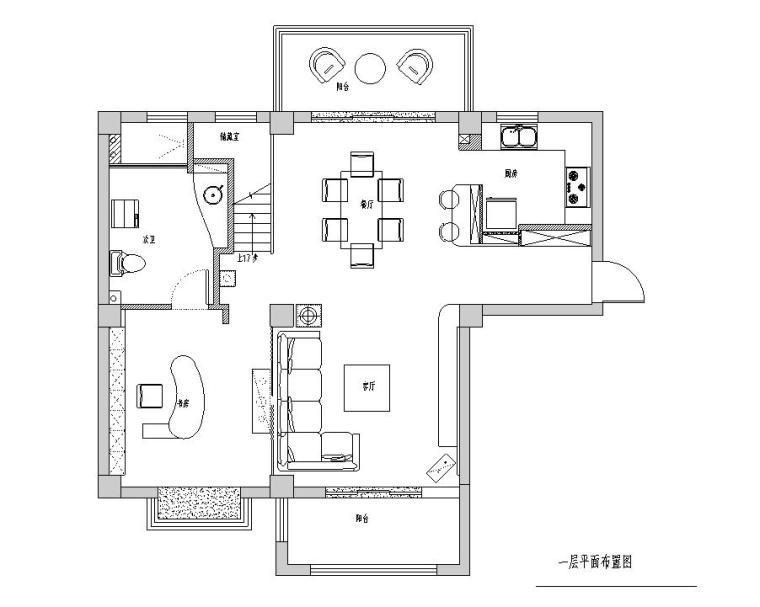 [江苏]苏州常熟180平米复式室内施工图设计—精简后现代主义