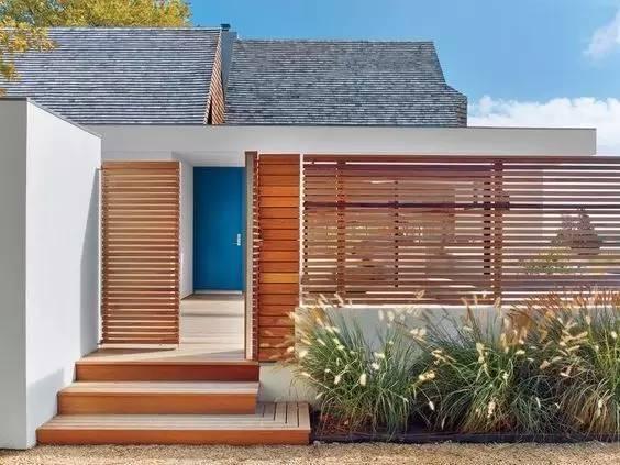 民宿庭院入口可以设计成这样 简单与美丽并存