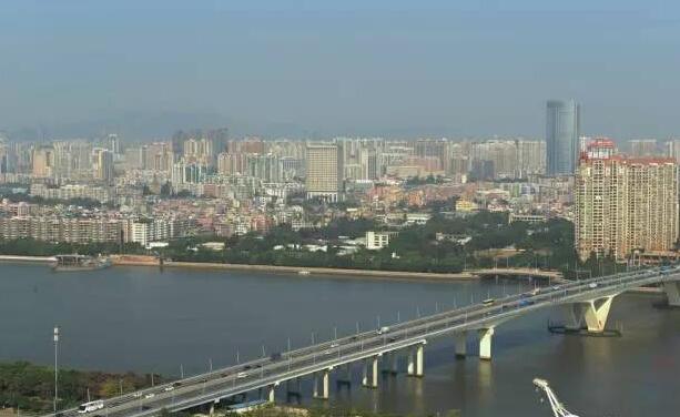 广州琶洲大桥:大型V型斜腿连续刚构