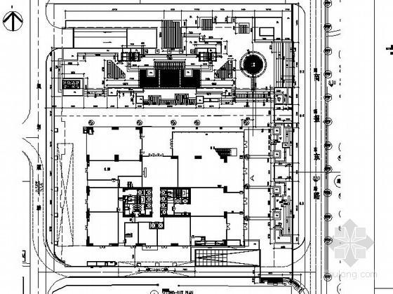 [深圳]商务大厦景观园建工程施工图