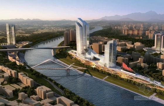 [四川]高品质大型滨江景观商业综合体建筑设计方案文本