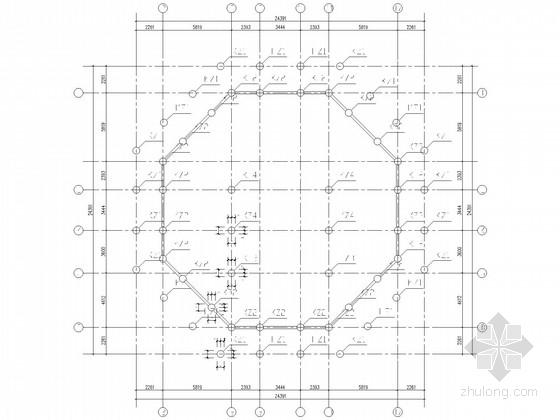 三层带地下室框架仿古建筑结构施工图