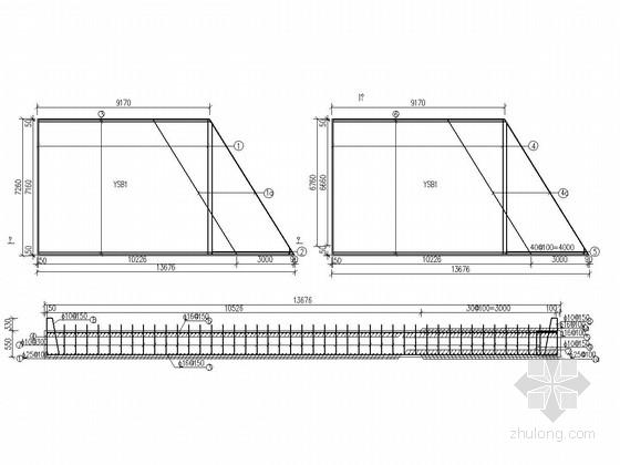 实心板YSB1钢筋构造图