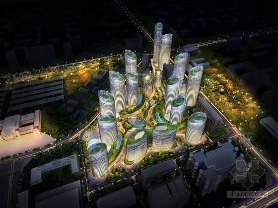 [北京]现代风格超高层商业综合体建筑设计方案文本(知名设计院)