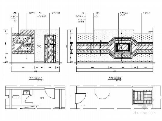 [安徽]气势恢宏多功能豪华娱乐俱乐部装修施工图(含效果)大包间立面图