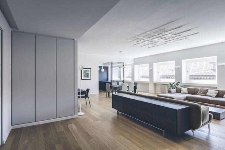 米兰:简洁淡雅的现代公寓_3
