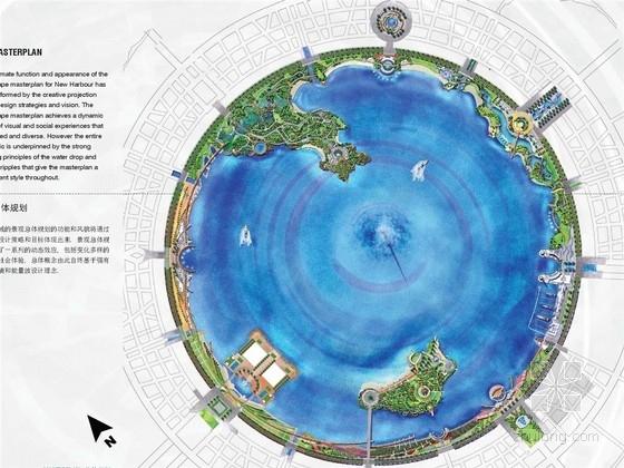[上海]滨水都市环状城市规划景观设计方案