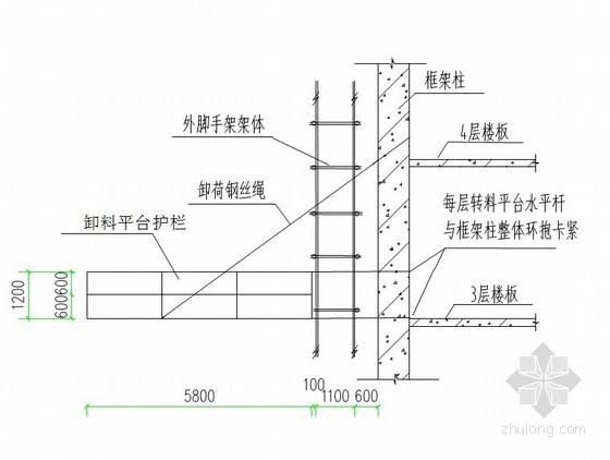 [北京]医院门诊楼落地式卸料平台施工方案(3800mmX5800mm)
