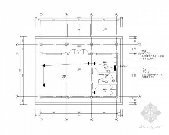[河南]公园管理用房、古建卫生间电气施工图(最新)