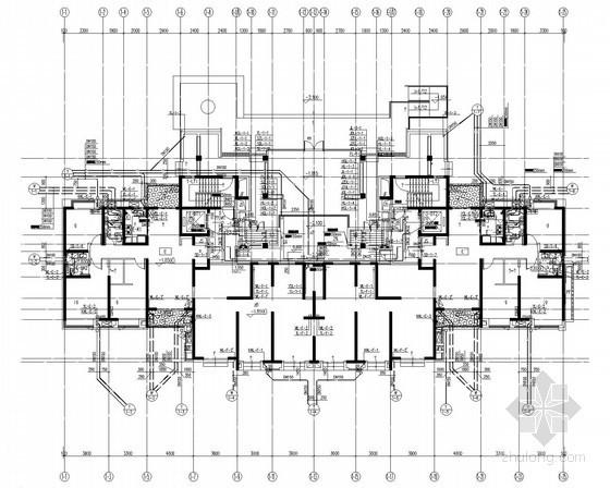 [江西]41层一类高层住宅楼给排水消防施工图(冷凝水系统)