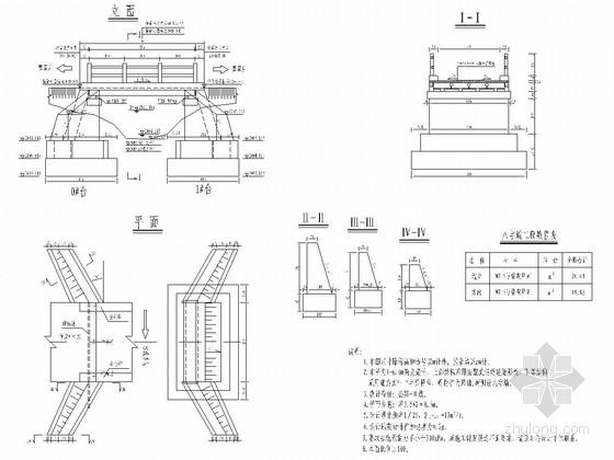 1-6m钢筋混凝土简支矩形板桥全套施工图(15张)