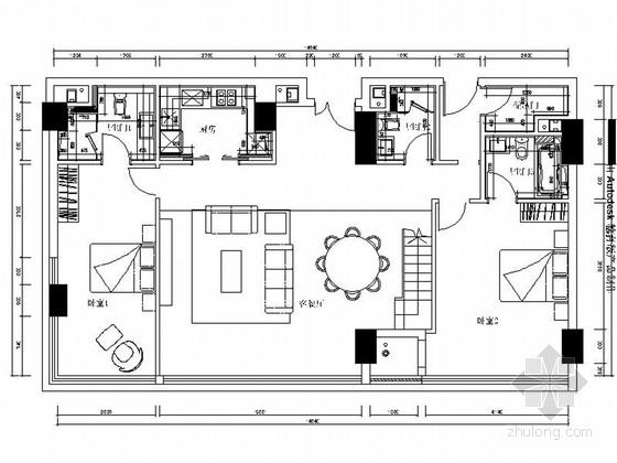 [浙江]138平LOFT风格两层住宅室内装修施工图