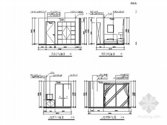 时尚现代单身公寓装修施工图(含效果图) 立面图
