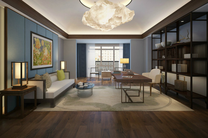 现代东南亚风格小户型客厅装修效果图