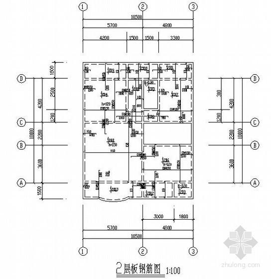 砖混结构别墅结构施工图(三层 条形基础)