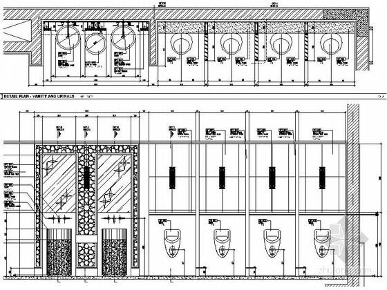 某现代海鲜餐厅洗手间节点详图CAD图块下载