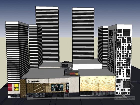 大气商业建筑SketchUp模型下载-大气商业建筑