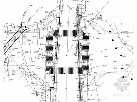 [重庆]双向四车道城市次干路全套施工图设计137张(道路 交通 排水 照明)