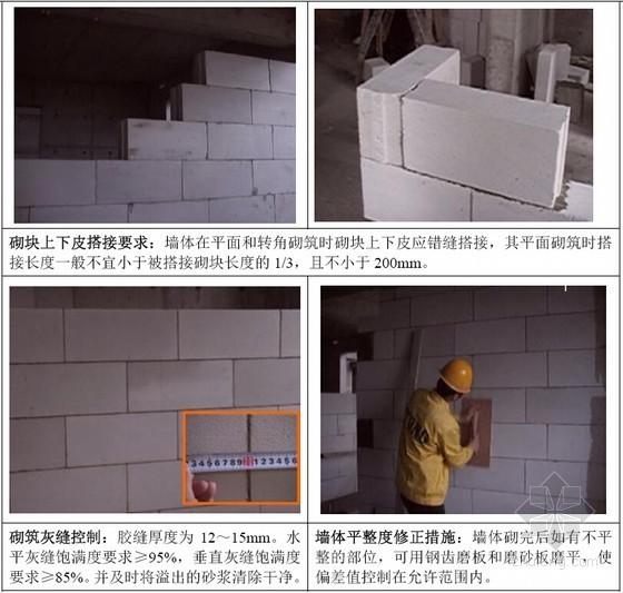 标杆企业建筑工程砌体工程施工标准做法指引(附图)
