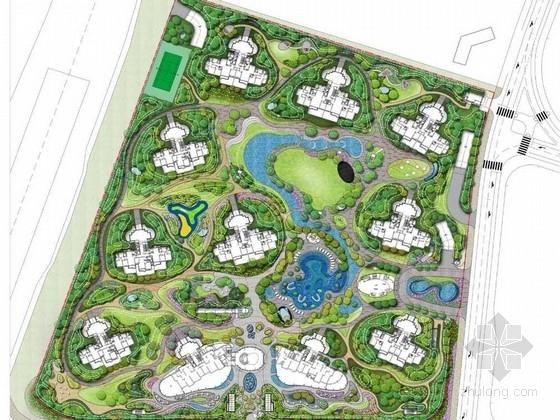 [上海]生态氧气住宅小区景观调整设计方案