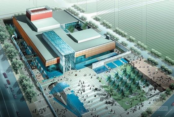 [广东]市级现代风格矩形大剧院设计方案文本(含CAD 多媒体)