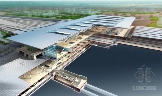 大型铁路客运站超长预应力梁施工工法(五跨纵梁全长109.1m)