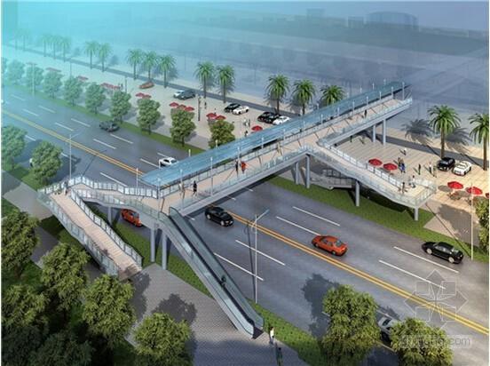 [重庆]钢结构人行天桥建设工程量清单计价实例(全长35.2米)